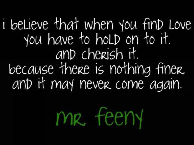 Mr. Feeny Love quote