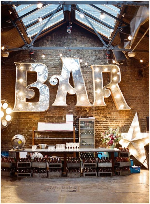 rustic loft bar party