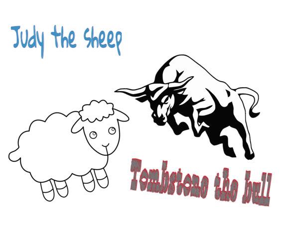sheep and bull tee